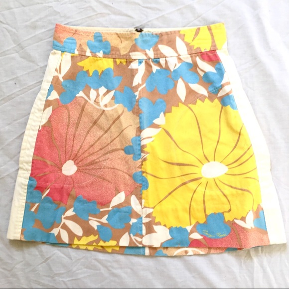 Tracy Feith Dresses & Skirts - Tracy Feith Floral Cotton Straight Skirt Sz9 $10